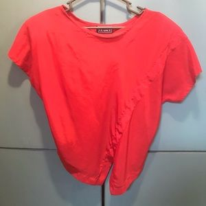 Vintage red top with shoulder pads